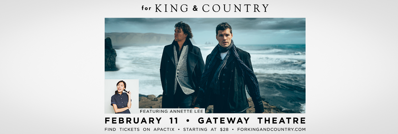 FOR KING and COUNTRY  2019世界音乐之旅-热点新加坡